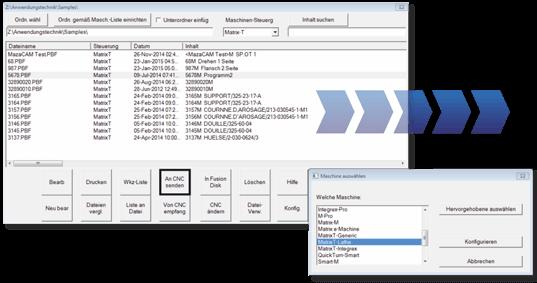 Datenübertragung für Mazak mit MazaCAM DNC Basic